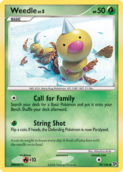 Weedle card for Great Encounters