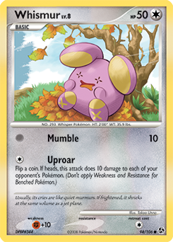 Whismur card for Great Encounters