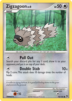 Zigzagoon card for Great Encounters