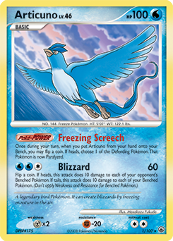 Articuno card for Majestic Dawn
