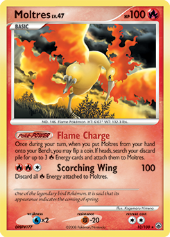 Moltres card for Majestic Dawn