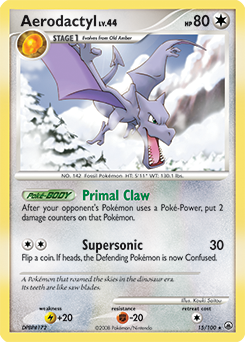 Aerodactyl card for Majestic Dawn