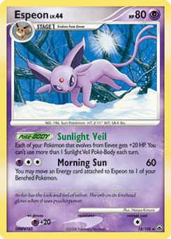 Espeon card for Majestic Dawn