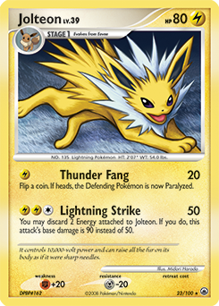 Jolteon card for Majestic Dawn