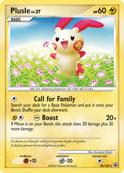 Plusle card for Majestic Dawn