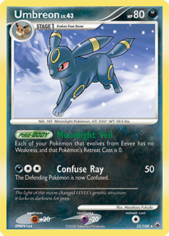 Umbreon card for Majestic Dawn