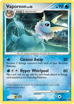 Vaporeon card for Majestic Dawn