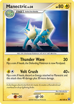 Manectric card for Majestic Dawn