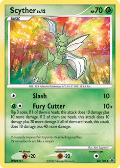 Scyther card for Majestic Dawn