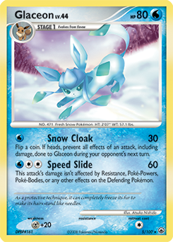 Glaceon card for Majestic Dawn