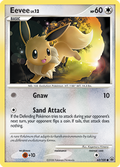 Eevee card for Majestic Dawn