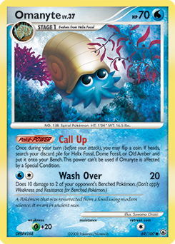 Omanyte card for Majestic Dawn
