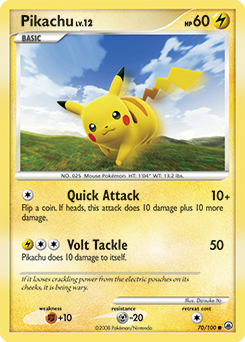Pikachu card for Majestic Dawn