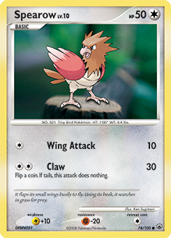 Spearow card for Majestic Dawn