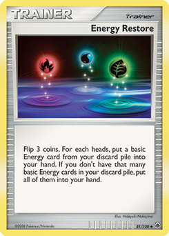 Energy Restore card for Majestic Dawn