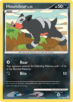 Houndour card for Legends Awakened
