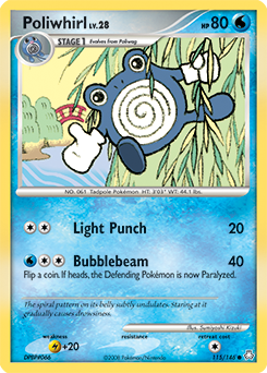 Poliwhirl card for Legends Awakened