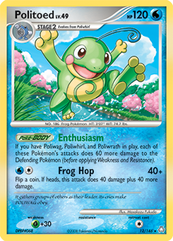Politoed card for Legends Awakened
