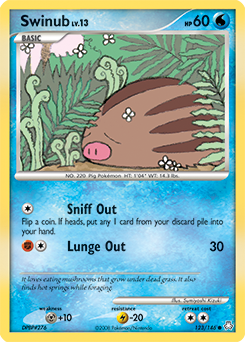 Swinub card for Legends Awakened