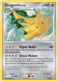 Dragonite card for Legends Awakened