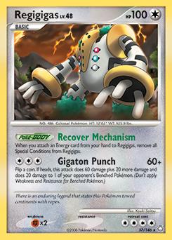 Regigigas card for Legends Awakened