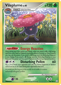 Vileplume card for Legends Awakened