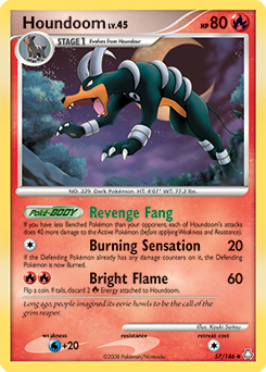 Houndoom card for Legends Awakened