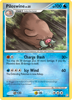 Piloswine card for Legends Awakened