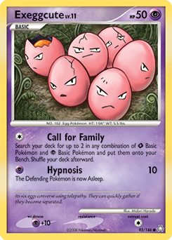 Exeggcute card for Legends Awakened