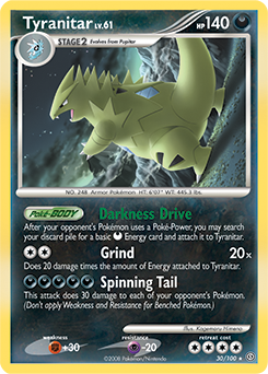 Tyranitar card for Stormfront
