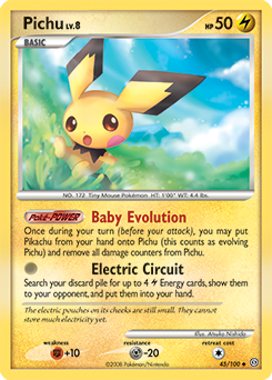 Pichu card for Stormfront