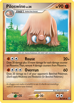 Piloswine card for Stormfront