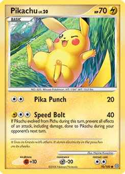 Pikachu card for Stormfront