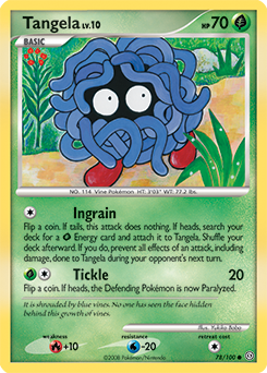 Tangela card for Stormfront