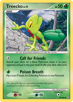 Treecko card for Stormfront