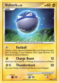 Voltorb card for Stormfront