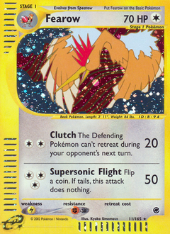 Fearow card for Expedition Base Set