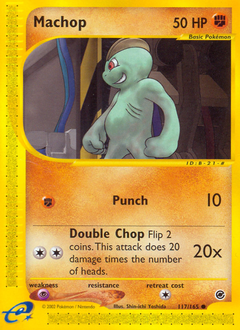 Machop card for Expedition Base Set