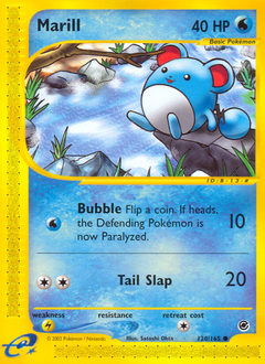 Marill card for Expedition Base Set