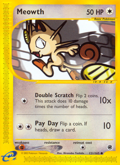 Meowth card for Expedition Base Set