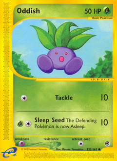 Oddish card for Expedition Base Set
