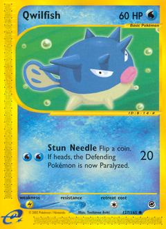 Qwilfish card for Expedition Base Set