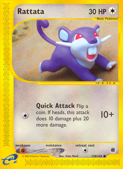 Rattata card for Expedition Base Set