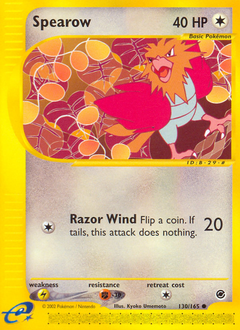 Spearow card for Expedition Base Set