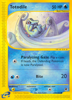 Totodile card for Expedition Base Set