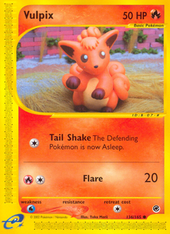 Vulpix card for Expedition Base Set