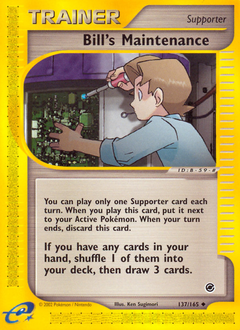 Bill's Maintenance card for Expedition Base Set