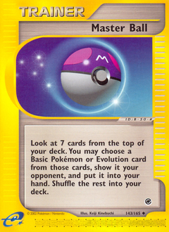 Master Ball card for Expedition Base Set