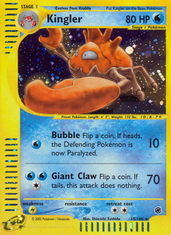 Kingler card for Expedition Base Set