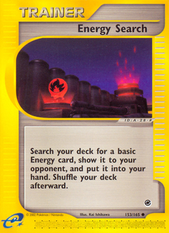 Energy Search card for Expedition Base Set